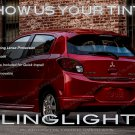 Mitsubishi Mirage Tinted Smoked Tail Lamp Light Overlay Kit mk6 Film Protection