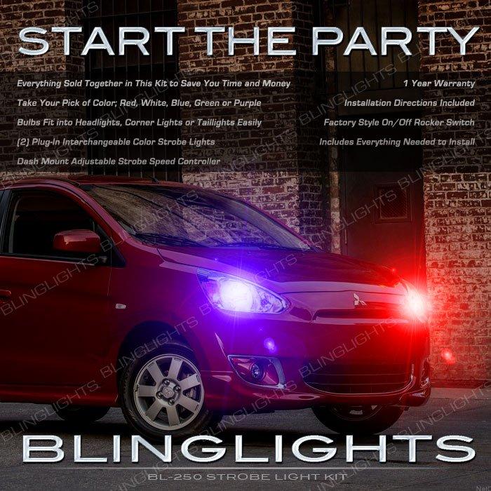 Mitsubishi Mirage Head Lamps Strobe Lights Kit Multi Color