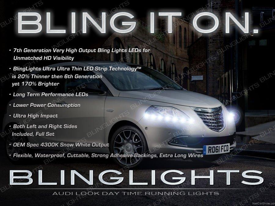 Chrysler Lancia Ypsilon LED DRL Head Lamp Light Strips Day Time Running Kit