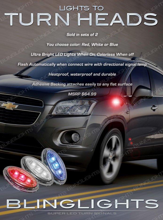 Chevrolet Trax LED Flushmount Side Turn Signal Lights Marker Lamps Set Pair
