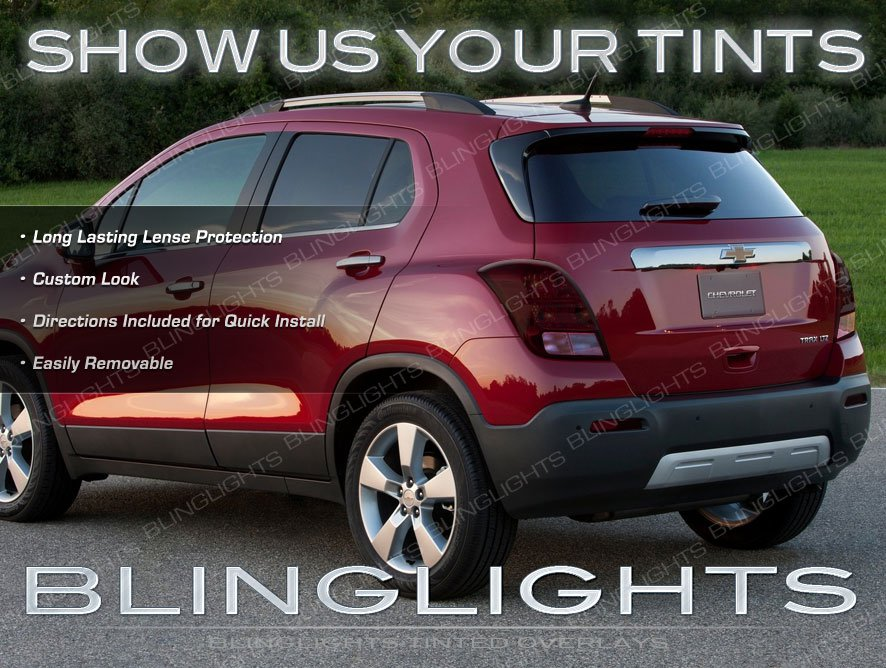 Chevy Trax Tinted Smoked Tail Lamp Light Overlays Kit Film Protection