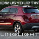 Tinted Taillight Overlays Protective Lens Film Covers for Chevrolet Trax (all years)