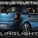 Nissan Micra Tinted Smoked Tail Lamp Light Overlays Kit Protection Film