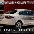 Renault Fluence Tinted Tail Lamp Light Smoked Overlays Kit Vinyl Film Protection