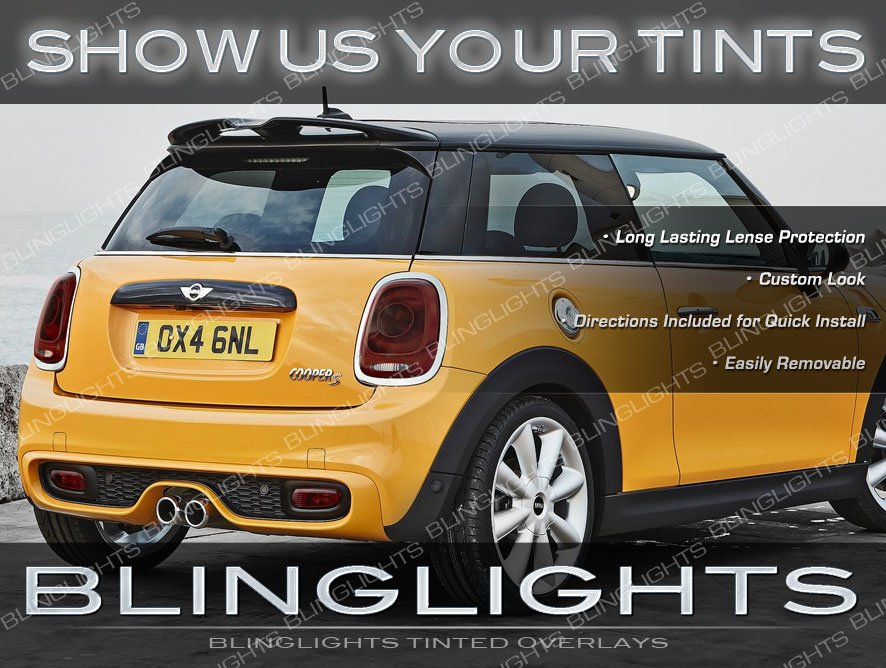 MINI Cooper Tinted Tail Lamp Light Overlays Kit Smoked Film R50 R52 R53 R55 R56 R57 R58 R59 R61