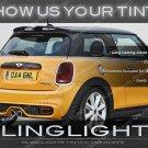 MINI Cooper Tinted Tail Lamp Light Overlays Kit Smoked Film R50 R52 R53 R55 R56 R57 R58 R59 R61