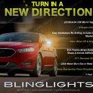 Ford Taurus LED Side Mirror Turn Signal Lights Power Signaler Lamp set