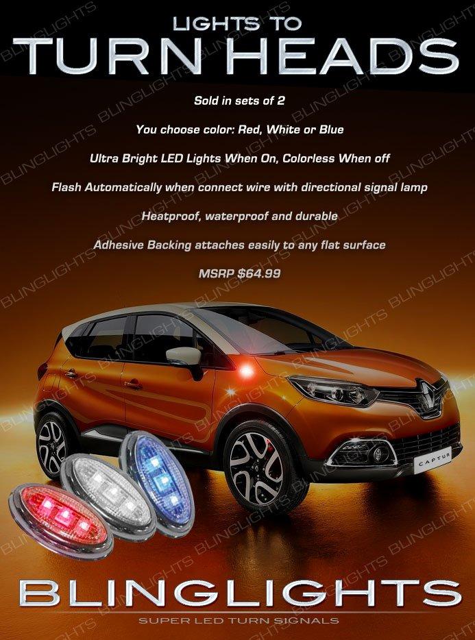 Renault Captur Flushmount LED Side Turn Signal Light Marker Lamp Signaler Kit Blinker Set Pair