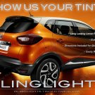 Renault Captur Smoked Tail Lamp Light Overlays Tint Kit Vinyl Protection Film
