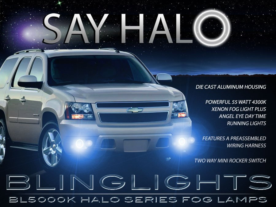 2007-2013 Chevy Avalanche Halo Fog Lamp Driving Light Kit Angel Eyes