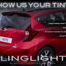 Nissan Versa Note C12 Tinted Tail Lamp Light Overlays Smoked Film Protection Kit