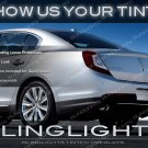 Lincoln MKS Tinted Tail Lamps Smoked Lights Overlays Kit film protection