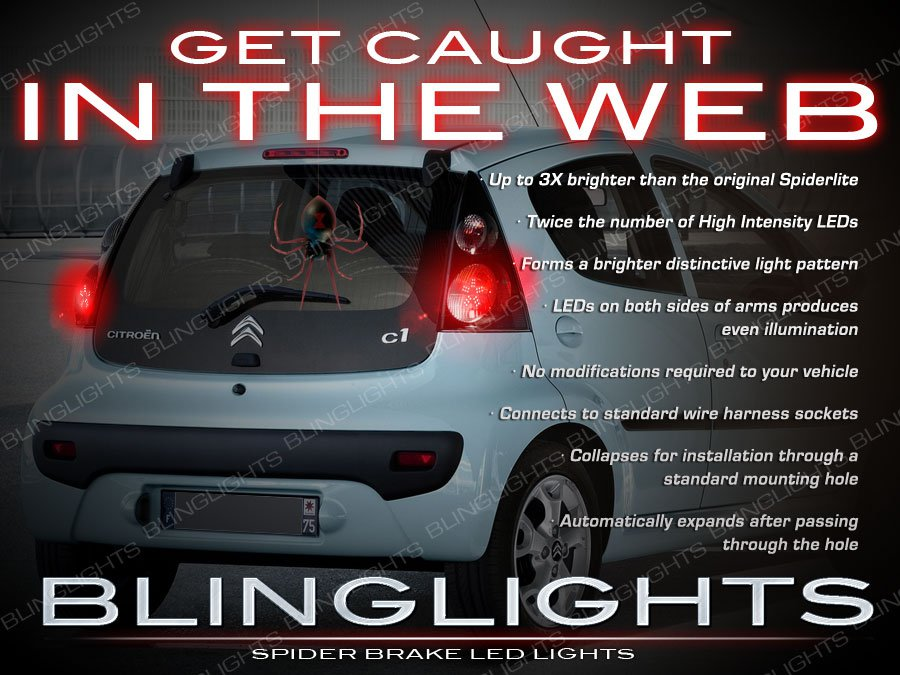 Citroen C1 White LED Tail Lamp Spider Light Bulbs Pair Set Citroën