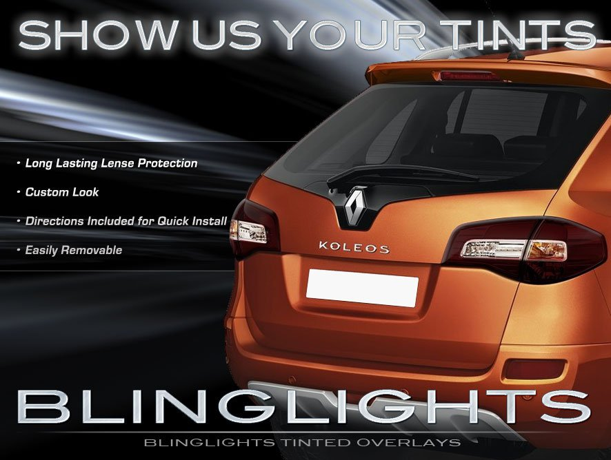 Renault Samsung QM5 Tinted Tail Lamp Light Overlays Kit Smoked Protection Film