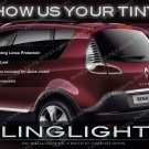 Renault Scénic Tinted Tail Lamps Lights Overlays Kit Smoked Film Protection Scenic