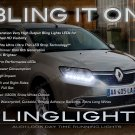 Renault Symbol LED DRL Head Light Strips Day Time Running Lamp Kit