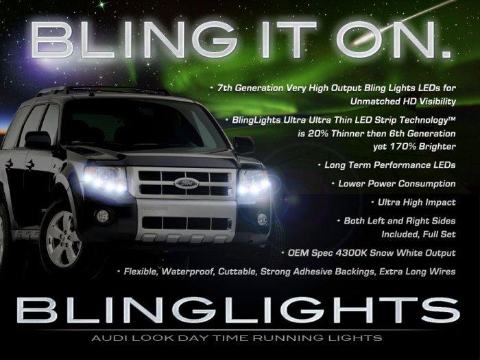 Mercury Mariner LED DRL Head Lamp Light Strips Kit Day Time Running
