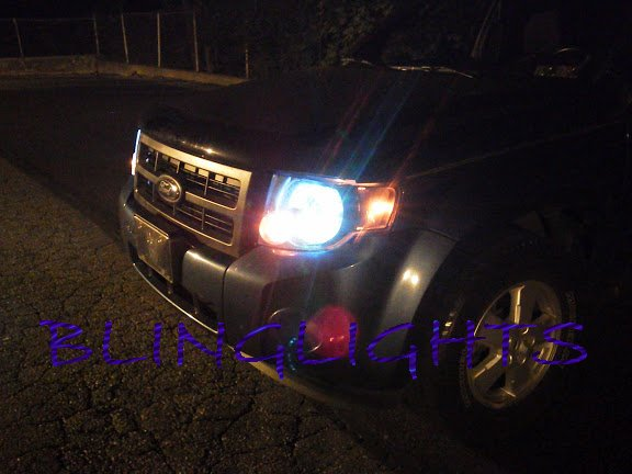 Mazda Tribute Bright White Head Lamp Light Bulbs Replacement Upgrade Pair