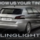 Peugeot 308 Smoked Tail Lights Lamps Overlays Kit Tinted Protection Film