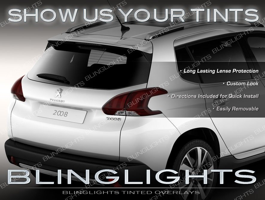 Peugeot 2008 Tinted Tail Lights Overlays Smoked Lamp Film Protection Kit
