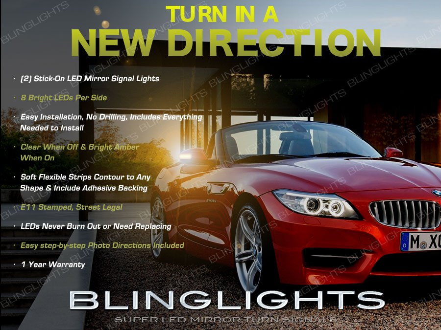 BMW Z3 LED Side View Mirrors Turn Signal Light Blinker e36 e37 e38 Kit
