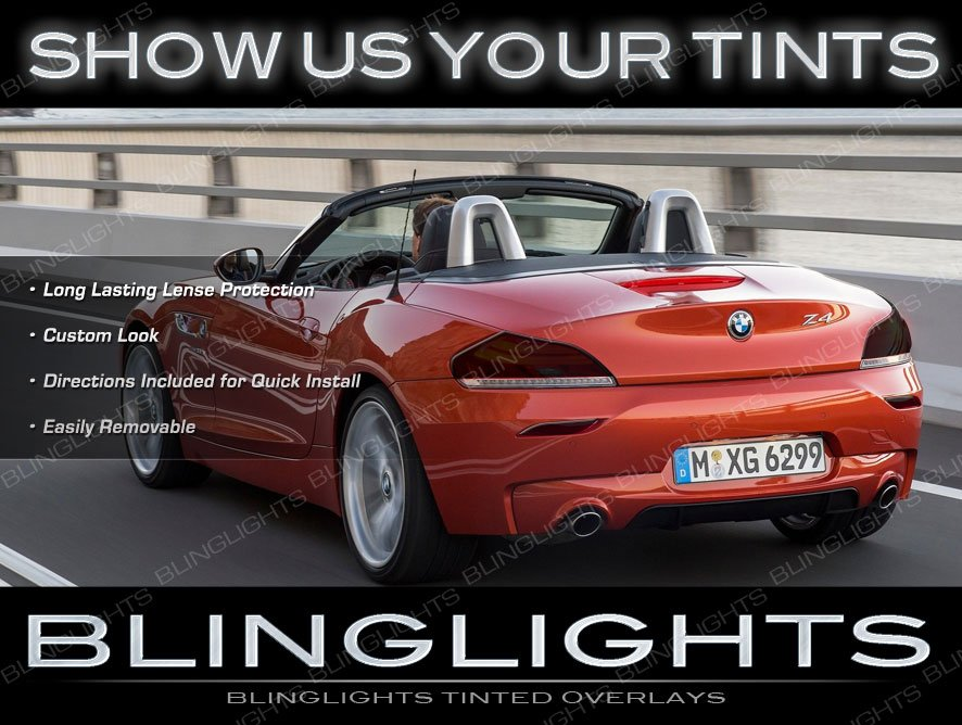 BMW Z4 e85 e86 e89 Tinted Tail Lamp Light Overlays Kit Smoked Protection Film