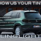 Volkswagen Tiguan Tinted Tail Lamp Light Overlays Kit VW Smoked Film Protection