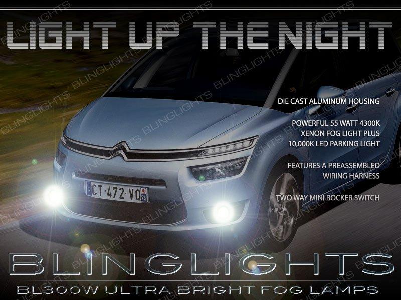 2014 2015 2016 Citroen Grand C4 Picasso Fog Lamp Driving Light Kit Citroën Xenon