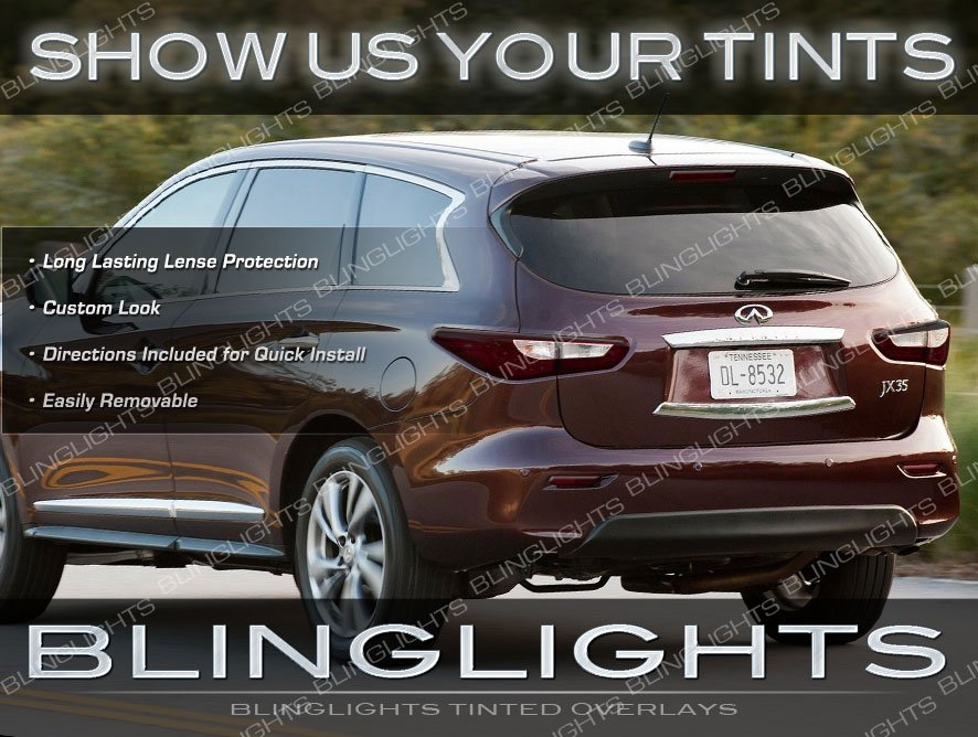Infiniti JX35 QX60 Tinted Tail Lights Lamps Overlays Kit Smoked Protection Film