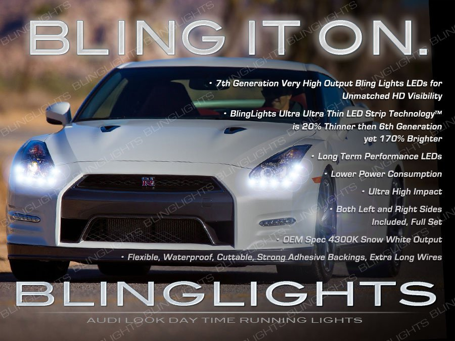LED DRL Head Light Strips Day Time Running Lamp for Nissan GT-R GTR