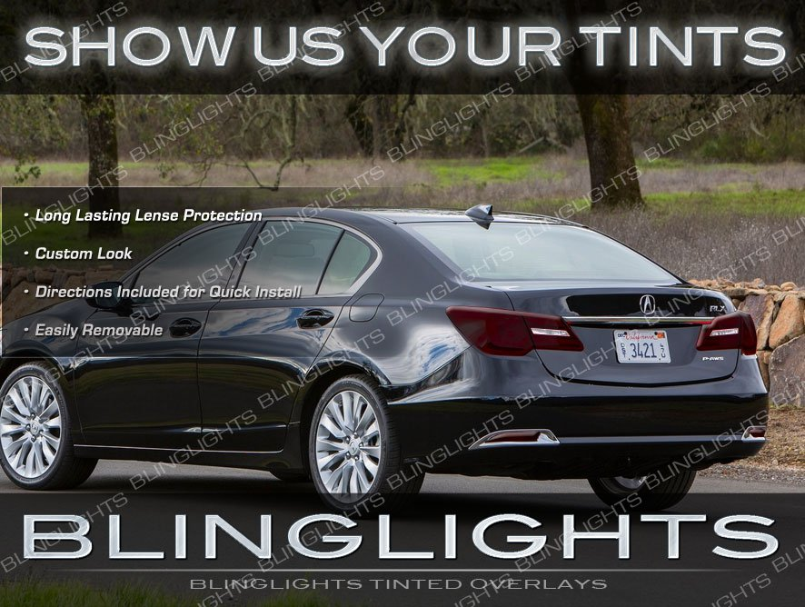 Acura RLX Tinted Tail Lamps Lights Overlay Kit Smoked Protection Film