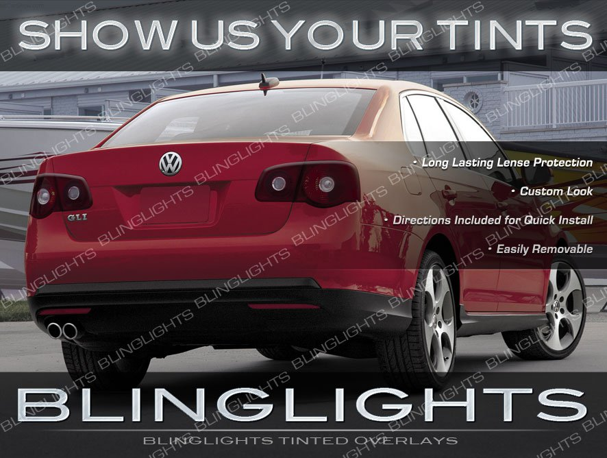 VW Jetta Mk5 Tinted Tail Light Lamp Overlay Kit Volkwagen Smoked Film Protection