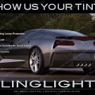 Chevy Corvette Tinted Tail Lamp Light Overlays Kit C4 C5 C6 C7 Smoked Protection Film Chevrolet