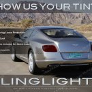 Bentley Continental GT Tinted Tail Lights Smoked Lamp Overlays Kit Film Lense Protection