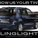 Citroen C3 Picasso Smoked Tail Lamp Light Overlays Kit Citroën Tinted Protection Film