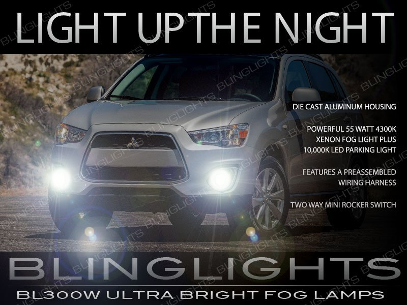 2013 2014 2015 Mitsubishi Outlander Sport Fog Lights Lamps Kit