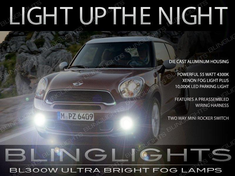 2013 2016 Mini Cooper Paceman Fog Lamp Driving Light Kit R61