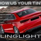 Audi S3 Tail Lamps Tinted Overlays Lights Protection Kit Smoked Film