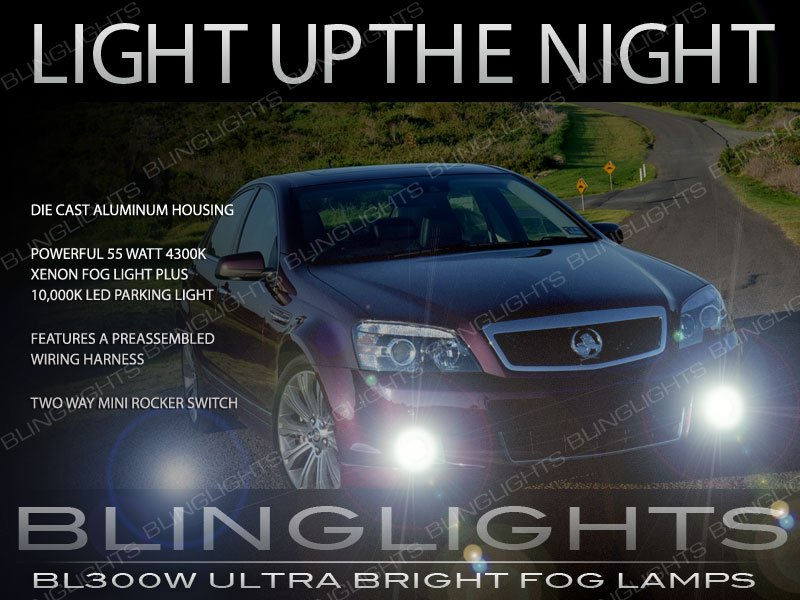 Holden Statesman Xenon Driving Lights Fog Lamps Kit WM WN