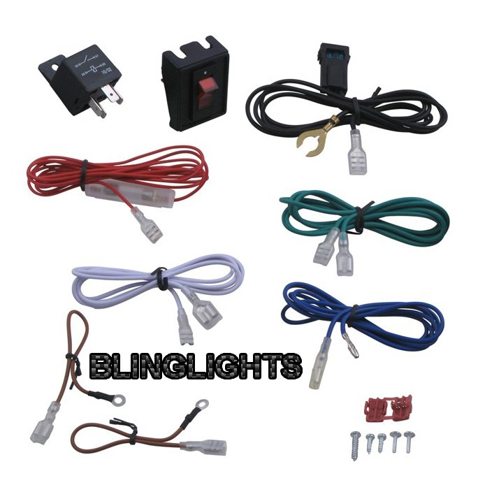 Universal Wiring Kit + Fuse for Car Lights Driving Fog Lamps Auxilliary Lighting Foglamps Foglights
