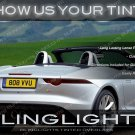 Jaguar F-Type Murdered Out Tail Lights Protective Overylays Tinted Lamp Kit Smoked Vinyl