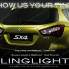 Suzuki SX4 Tinted Tail Lamps Lights Smoked Overlays Kit Film Protection