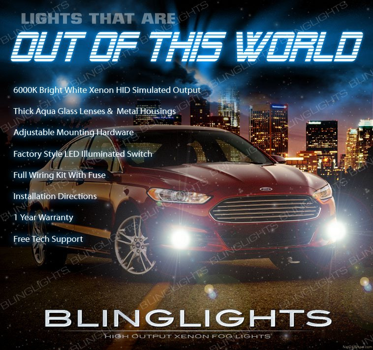 2013-2016 Ford Fusion Xenon Fog Lamps Driving Lights Kit