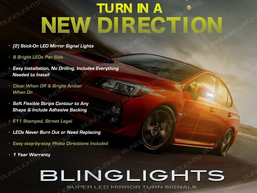 Subaru Impreza LED Side Mirror Turn Signal Lights Cover Lamp Signalers wrx crosstrek xv sport