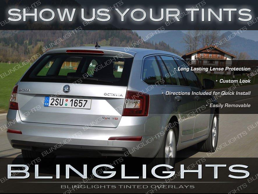 Skoda Octavia Tinted Tail Lights Smoked Lamps Overlays Kit Škoda Lense Film Protection