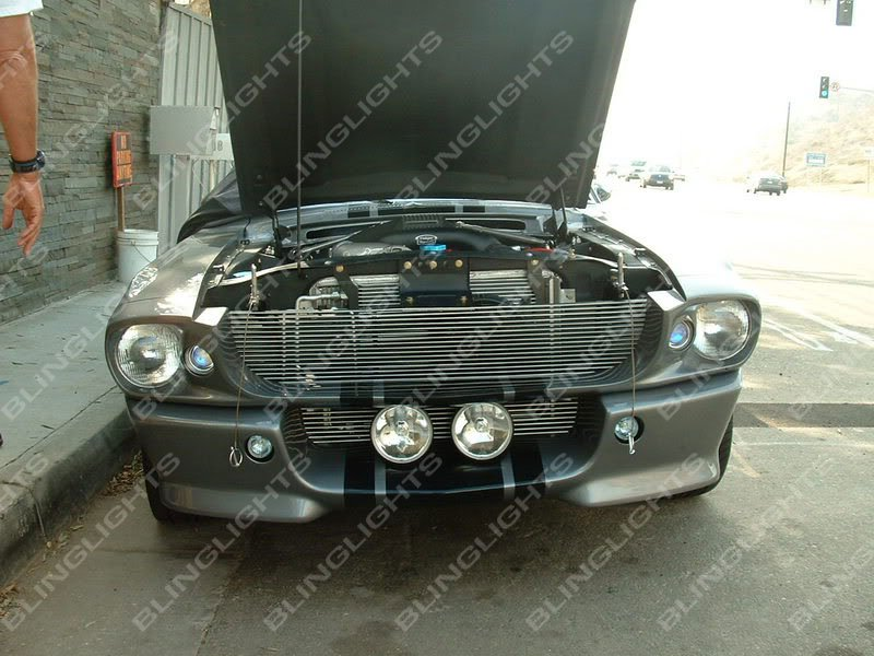 Ford Mustang Eleanor Shelby GT-500 Fastback Large Grille Fog Lights Driving Lamps Kit