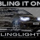 Toyota Verso LED DRL Head Light Strips Day Time Running Lamps Kit R20 AR20 ZGR20 AUR20