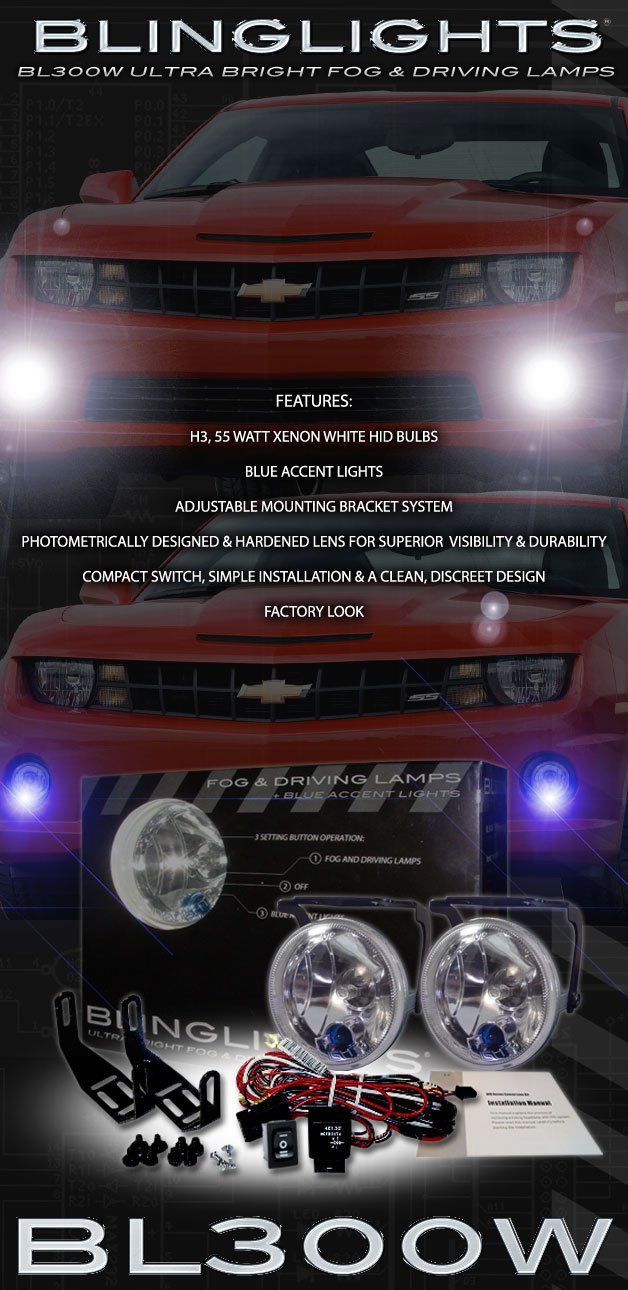 "3.5"" Round Fog & Driving Lamp Kit with Day Time Running Lights 89mm Xenon"