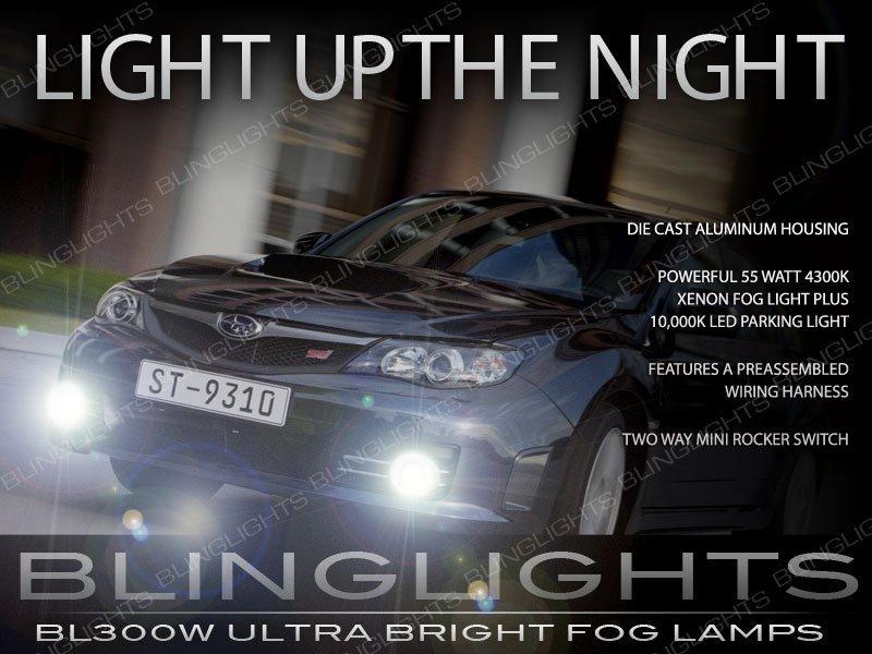 2008 2009 2010 Subaru Impreza WRX STI Xenon Fog Lamps Driving Lights Kit