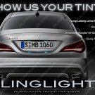Mercedes CLA-Class Tinted Taillamp Overlays Kit Smoked Taillight Film Protective Covers